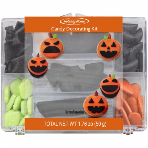 Holiday Home Pumpkin Face Baking Decor Kit Perspective: front