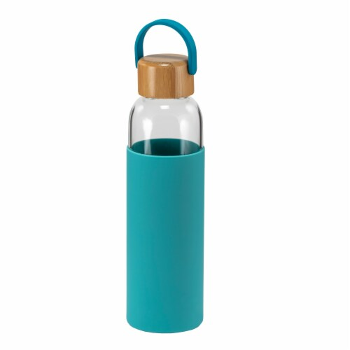 HD Designs Outdoors Glass Bottle with Bamboo Lid - Aquarelle Perspective: front