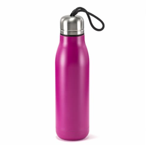 HD Designs Outdoors Double Wall Vacuum Bottle - Festival Fuchsia Perspective: front