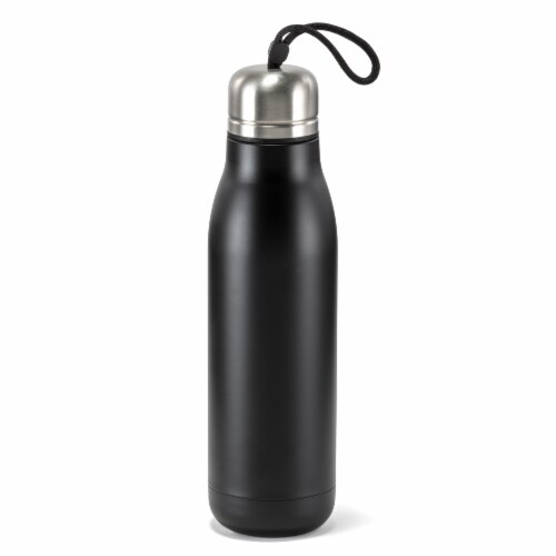 HD Designs Outdoors Double Wall Vacuum Bottle - Jet Black Perspective: front