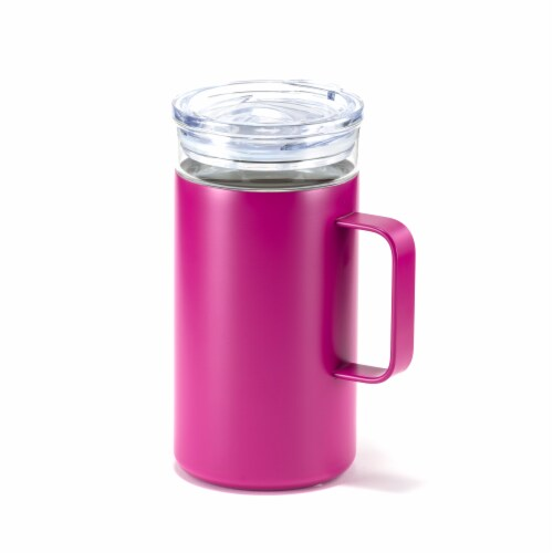 HD Designs Outdoors Double Wall Vacuum Mug - Festival Fuchsia Perspective: front