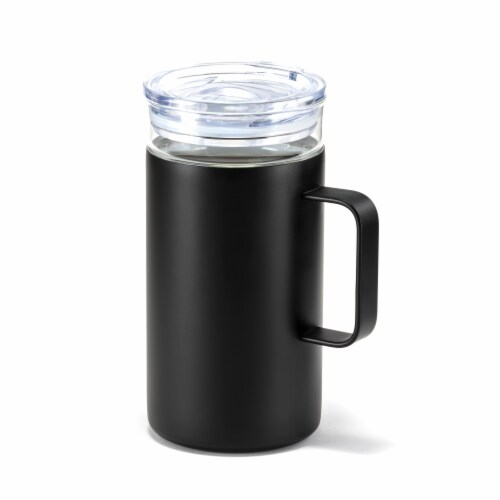 HD Designs Outdoors Double Wall Vacuum Mug - Jet Black Perspective: front