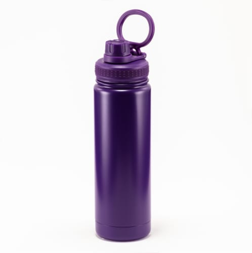 HD Designs Outdoors Stainless Steel Bottle with Sport Lid - Imperial Purple Perspective: front