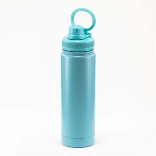 HD Designs Outdoors Stainless Steel Bottle with Sport Lid - Aquarelle Perspective: front