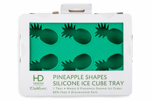 HD Designs Outdoors Silicone Pineapple Shapes Ice Cube Tray - Green Perspective: front