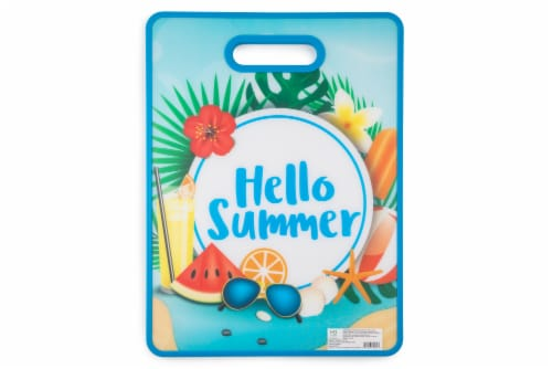 HD Designs Outdoors Hello Summer Poly Board - Blue/Green/Red Perspective: front