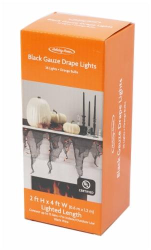 Holiday Home® 36 Gauze Drape Lights Garland - Orange Perspective: front