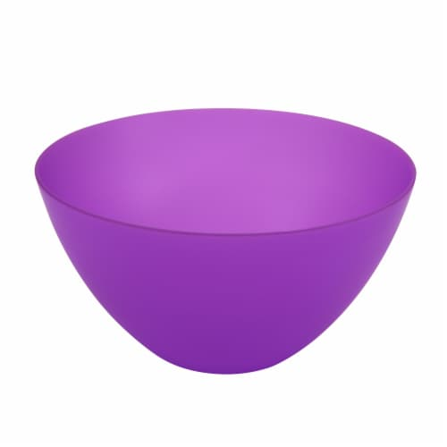 HD Designs Outdoors® Round Serve Bowl - Purple Perspective: front