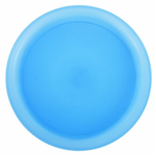 HD Designs Outdoors® Round Serve Platter Tray - Blue Perspective: front