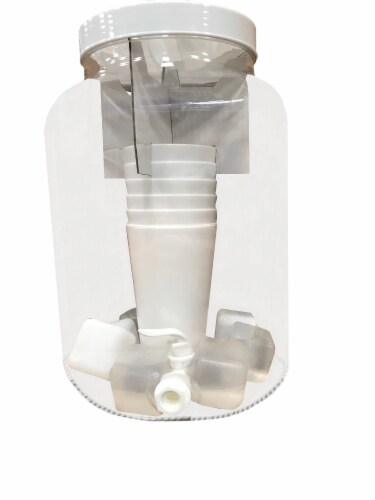HD Designs Outdoors Beverage Dispenser with Cups & Ice Cubes - White Perspective: front
