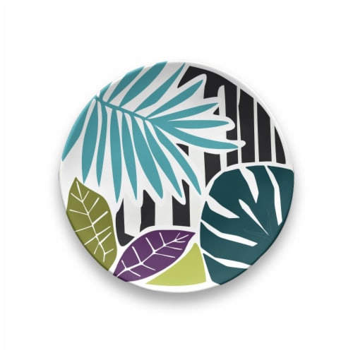 HD Designs Outdoors Leaves Appetizer Plate Perspective: front