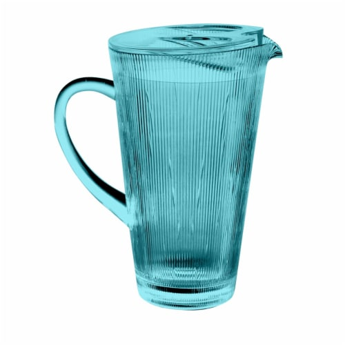 HD Designs Outdoors Tapered Textured Pitcher - Teal Perspective: front