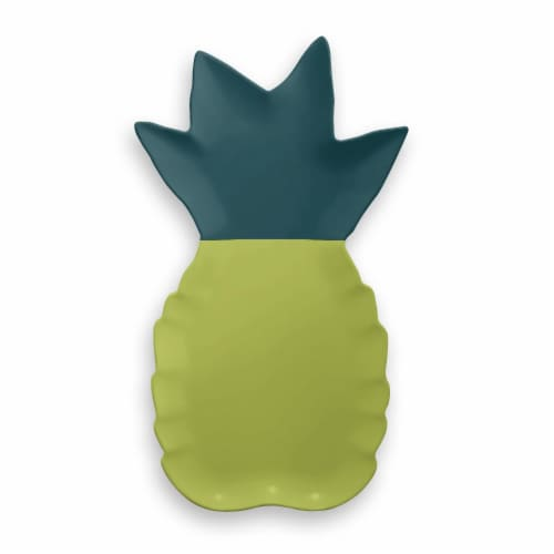HD Designs Outdoors Pineapple Serve Tray - Yellow/Green Perspective: front