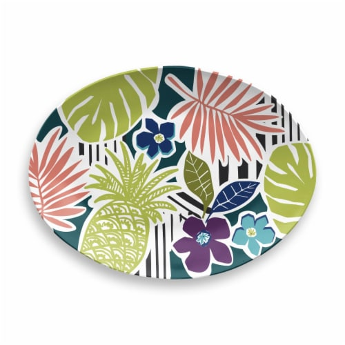 HD Designs Outdoors Oval Leaves Serve Tray Perspective: front