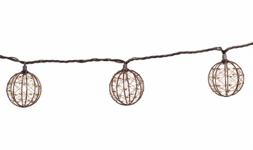 Fry\'s - HD Designs Outdoors® 10-Bulb Beaded Copper Wire Ball String ...