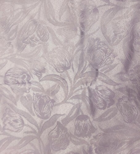 Lintex Damask Round Tablecloth - Tulips Perspective: front