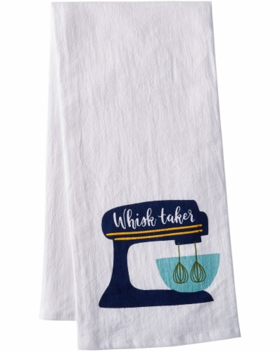 Dash of That Whisk Taker Flour Sack Towel - White Perspective: front