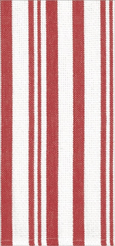 Dash of That Basketweave Towel Set - Red/White Perspective: front