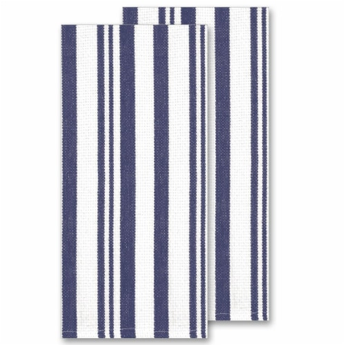 Kay Dee Designs Basketweave Towel - Blue Perspective: front