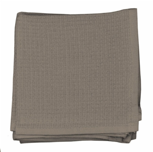 Dash of That Woven Waffle Dishcloth Set - Taupe Perspective: front