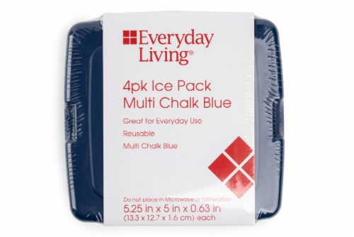 Everyday Living® Ice Packs - Chalk Blue Perspective: front