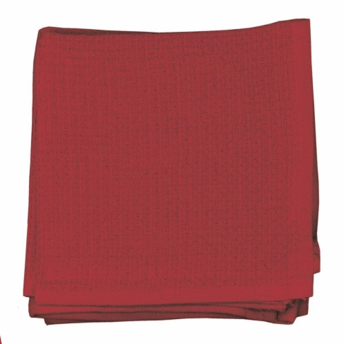 Dash of That Woven Waffle Dishcloth Set - Red Perspective: front