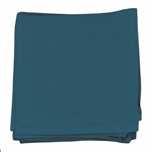 Dash of That Woven Waffle Dishcloth Set - Teal Perspective: front