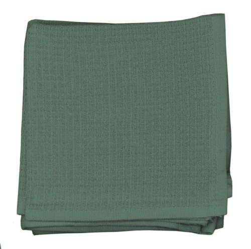 Dash of That Woven Waffle Dishcloth Set - Green Perspective: front