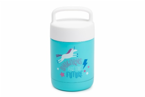Brumis Unicorns Are The Future Food Jar - Blue Perspective: front