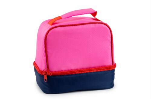 Everyday Living Colorblock Lunch Box - PInk Perspective: front
