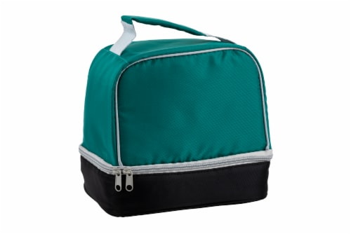 Everyday Living Colorblock Lunch Box - Green Perspective: front