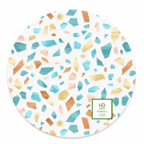 Lintex Terrazzo Round Placemat Perspective: front
