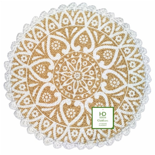 Lintex Sierra Round Placemat Perspective: front