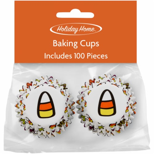 Holiday Home™ Mini Cupcake Liners - Candy Corn Perspective: front
