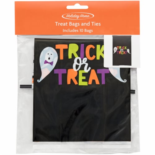 Holiday Home Trick or Treat Bakery Bags Perspective: front