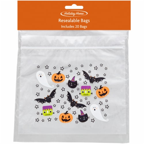 Holiday Home™ Icons Resealable Bags - 20 Pack Perspective: front