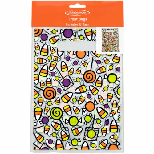 Holiday Home Candy Handle Bags - 12 Pack Perspective: front