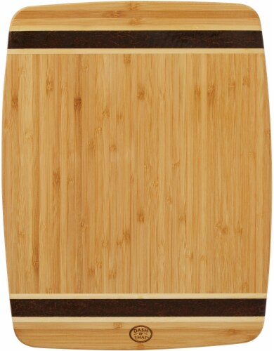 Dash of That™ Tuxedo Bamboo Cutting Board - Natural Perspective: front
