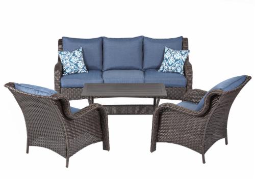 Smithu0027s   HD Designs Outdoors® Palisades Wicker Sofa Set   4 Piece   Blue