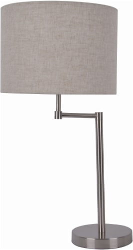 HD Designs Milton Swing Arm Table Lamp - Silver Perspective: front