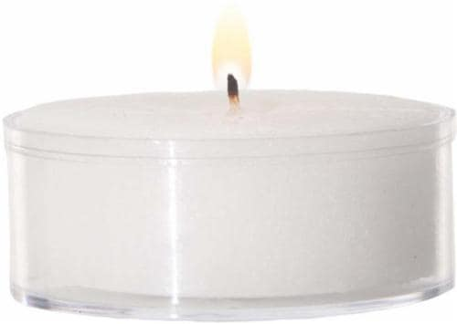 HD Designs Unscented Clear-Cup Tealight Candles - White Perspective: front