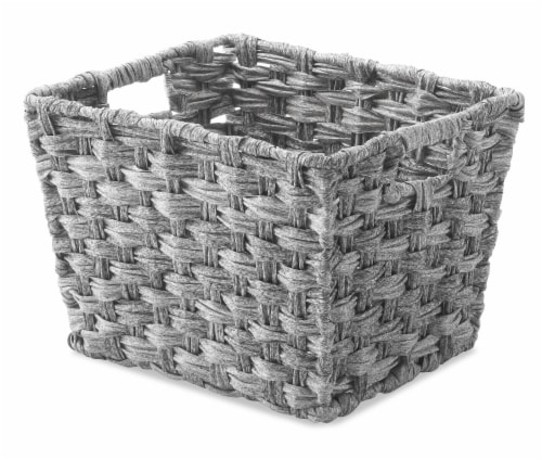 Everyday Living Small Split Rattique Shelf Tote - Gray Wash Perspective: front