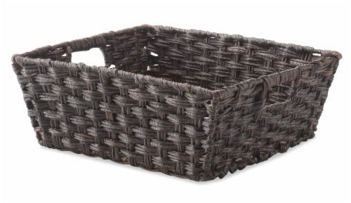Everyday Living Split Rattique Shelf Tote - Driftwood Brown Perspective: front