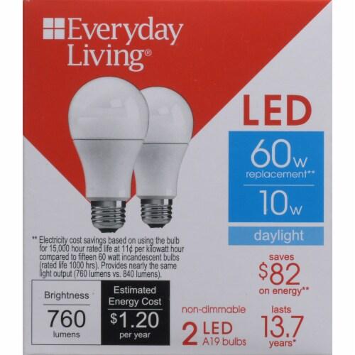 Fred Meyer - Everyday Living® 10-Watt (60-Watt) A19 LED Light Bulbs
