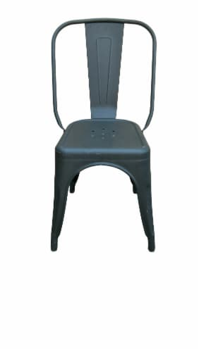 HD Designs Metal Matte Black Dining Chair Perspective: front