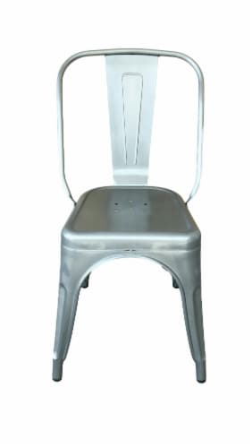 HD Designs Metal Dining Chair - Silver Perspective: front