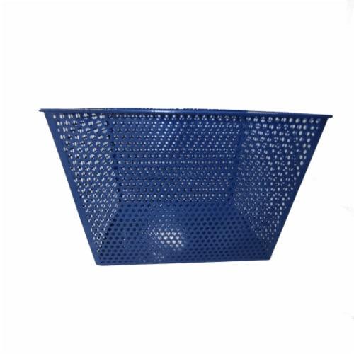 HD Designs Metal Mesh Storage Basket - Blue Perspective: front