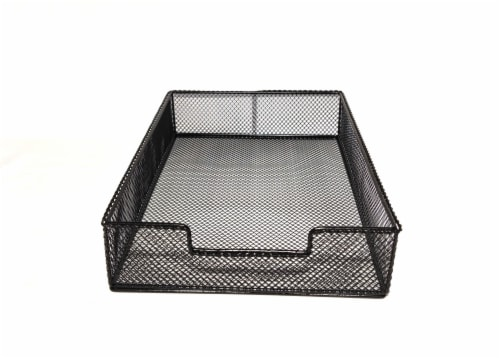 HD Designs Large Mesh Wire Tray - Black Perspective: front