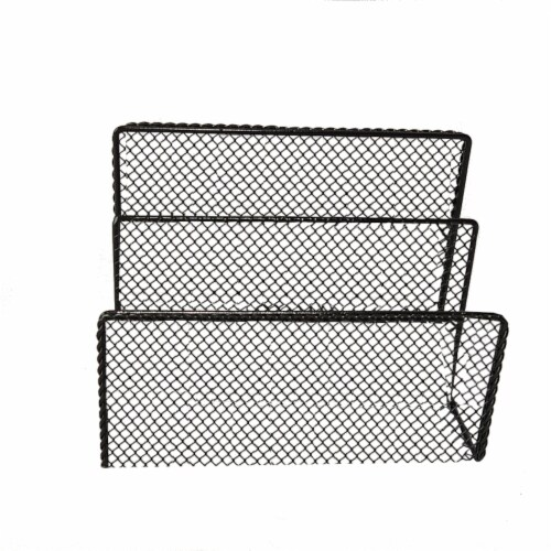 HD Designs Mesh Wire File Holder - Black Perspective: front