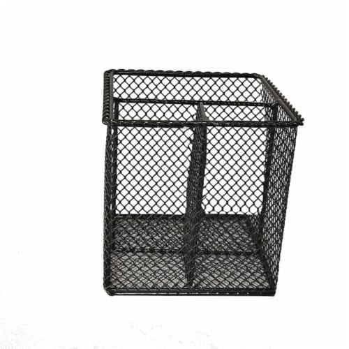 HD Designs Small Mesh Wire Pen Holder - Black Perspective: front